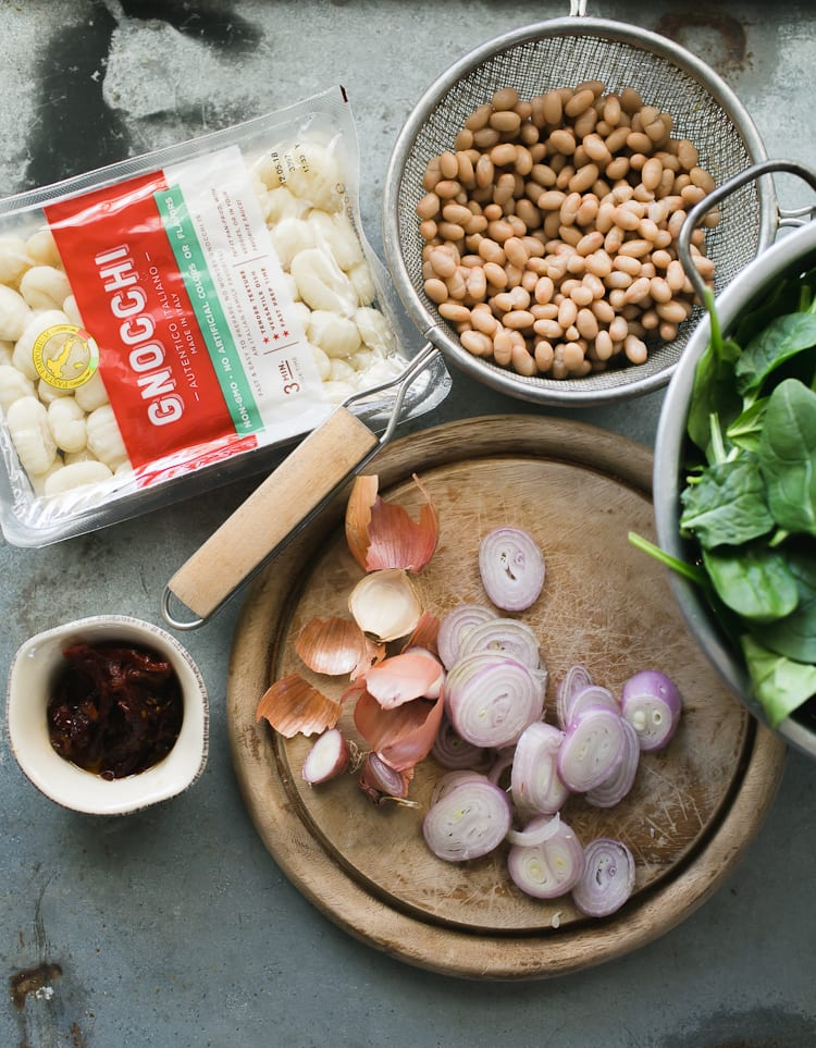 Spinach and Gnocchi with White Beans from Power Plates + a Giveaway| theclevercarrot.com