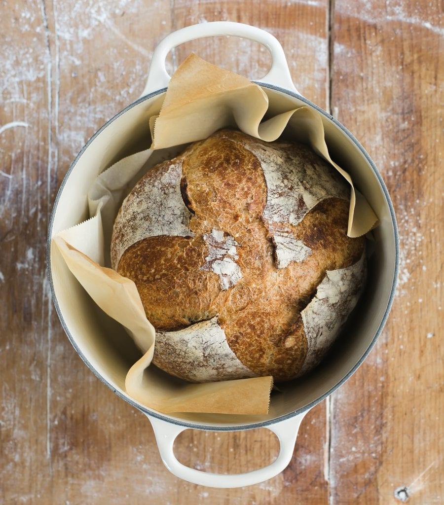 Dutch Oven Sourdough Bread   theclevercarrot.com