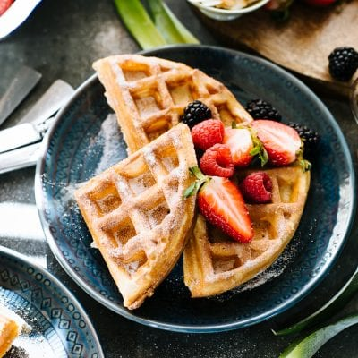 Cinnamon Sugar Sourdough Waffles