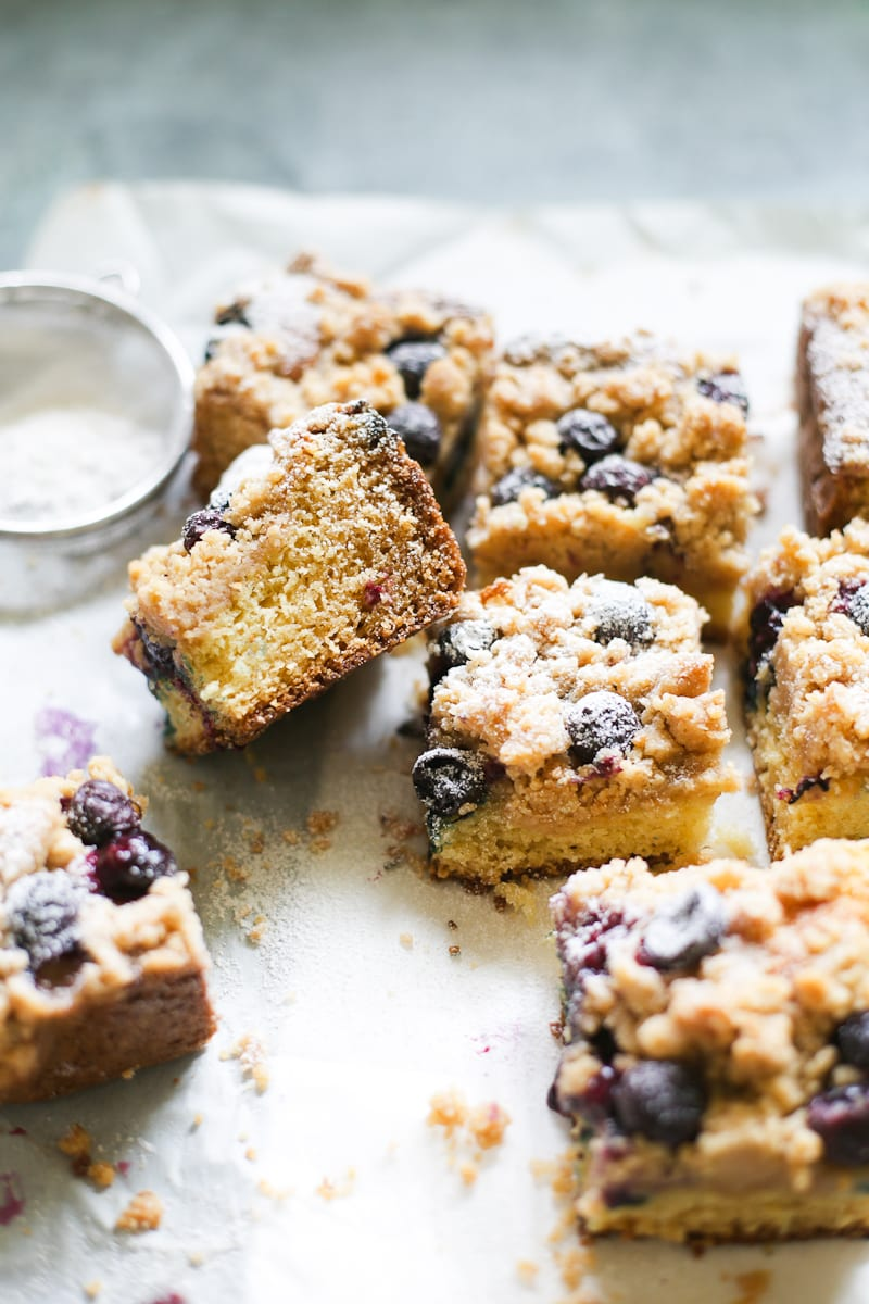 Sourdough Blueberry Crumb Cake The Clever Carrot