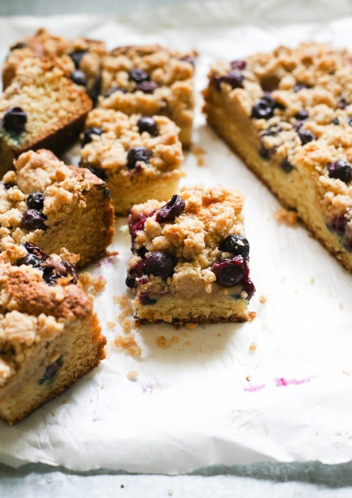 Sourdough Blueberry Crumb Cake Square
