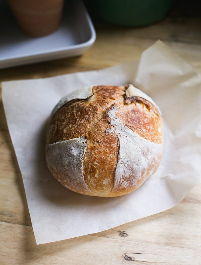 Artisan Sourdough with All Purpose Flour | theclevercarrot.com