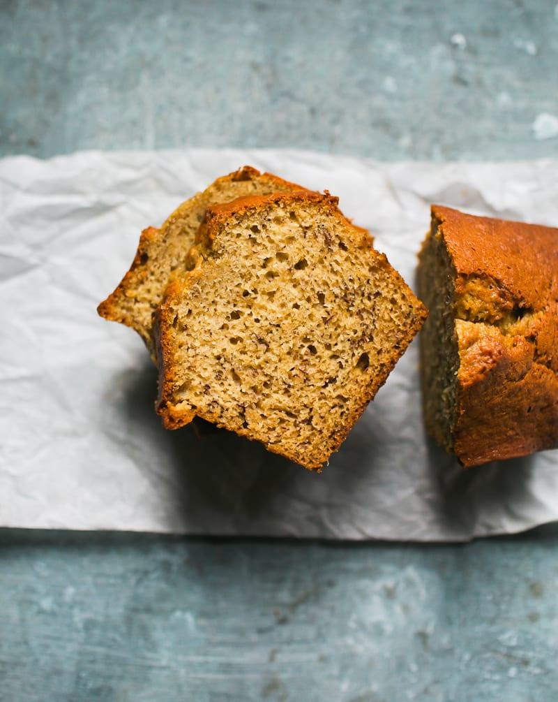 Sourdough Banana Bread Slices   theclevercarrot.com
