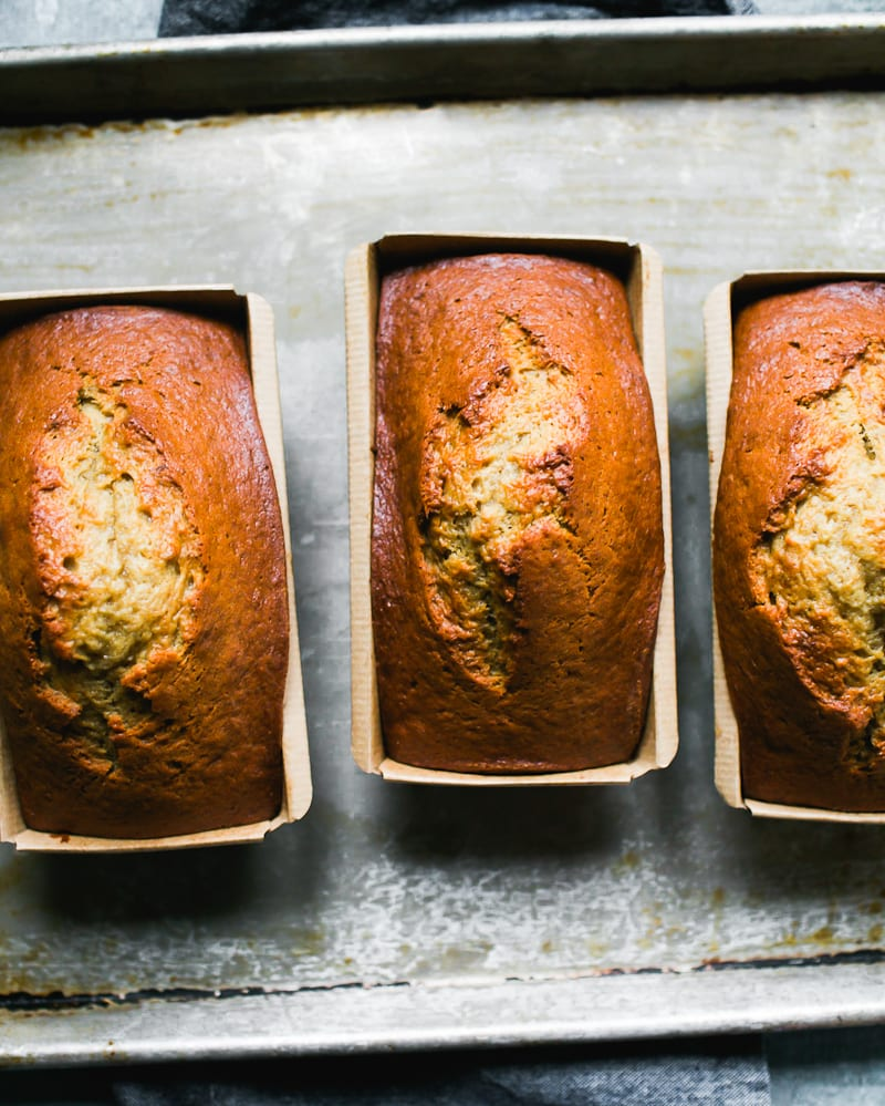 Sourdough Banana Bread Mini Loaves | theclevercarrot.com