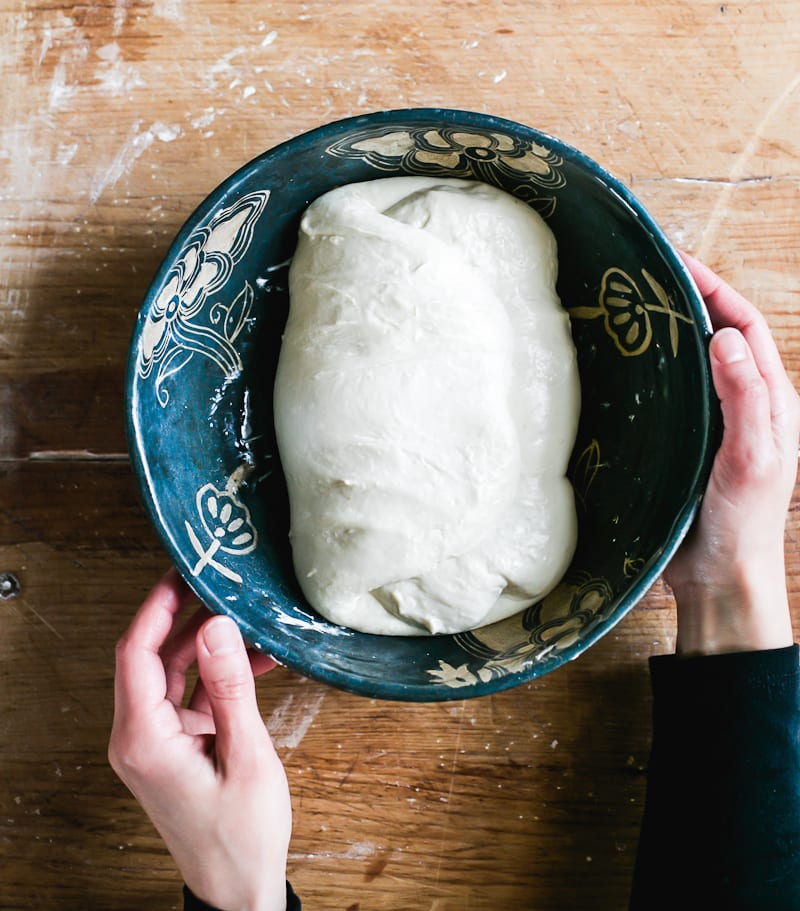 Bread dough in a bowl | theclevercarrot.com