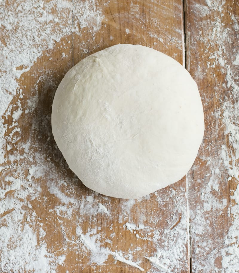 Round sourdough boule dough
