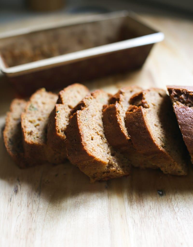 Moist Sourdough Zucchini Bread Slices