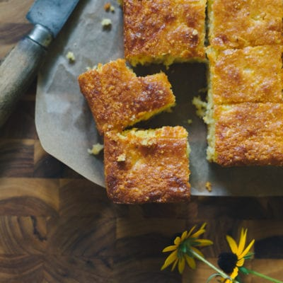 Sourdough Cornbread Thick-Cut Squares