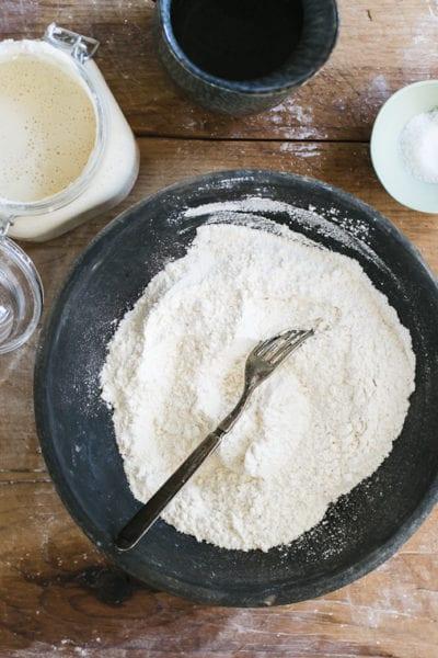 Bowl of bread flour